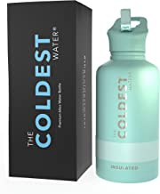 The Coldest Water Bottle - 64 oz Sports Wide Mouth Hot Cold, Modern Double Walled, Simple Thermo Mug, Hydro Metal Canteen ...