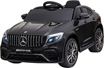 Aosom 12V Ride On Toy Car for Kids with Remote Control, Mercedes Benz AMG GLC63S Coupe, 2 Speed, with Music, Electric Light, Black