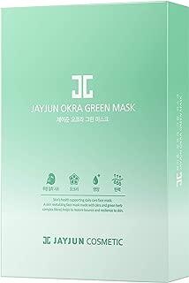 JAYJUN Okra Green Mask 20ml / 0.68 fl. oz. Pack of 10