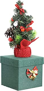 ZYDSN Mini Christmas Tree Box Gifts Box with Color LED Light Christmas Eve Apples Christmas Fruit Christmas Box (31. 5 10....