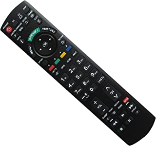 Hotsmtbang Replacement Remote Control with Netflix APP Button for Panasonic TH-50PZ80UA TH-42PWD8 TH-50PH9XK TH-50PZ80UA TH-50PZ80U TH-50PH9 TH-50PH9UK TH-42PX75U TH-58PF11UK Viera LED HDTV TV