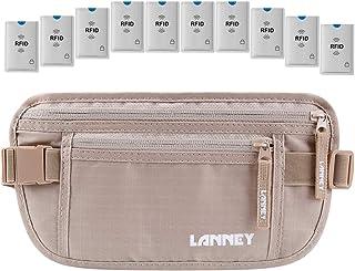 Travel Money Belt RFID Blocking for Men Women Waist Wallet with 10 RFID Sleeves
