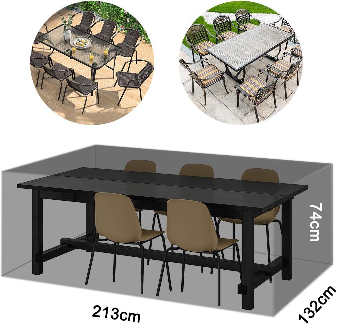 213 x 132 x 74 cm Salon de Jardin Table de Jardin AngLink Housse de Protection imperm/éable pour Meubles de Jardin Housse de Protection Respirante pour Meubles de Jardin