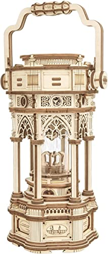 wholesale ROKR 3D Wooden Puzzle for popular Adults to Build, Victorian Style Vintage popular Lantern Music Box, Self-Assembly Craft Model Kits, for Couple, Antique Decoration for Home outlet sale