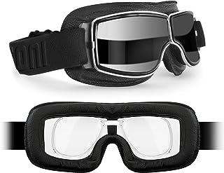 BERTONI Motorradbrille Fliegerbrille mit Sehstärke mit Brilleneinsatz für Brillenträger 188 SOS