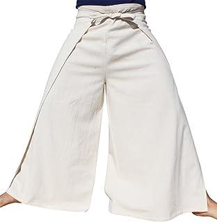 725986d15 Raan Pah Muang Brand Plain Cotton Thai Drive in Wrap Around Pants Wide Cut  Casual