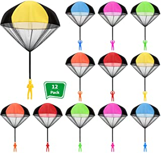 Children Throw Parachute Toy 10 Pcs Triangle Free Throwing Toy Hand Throw Parachute Army Man Children/'s Flying Toys Parachute Play Inflatable Toys