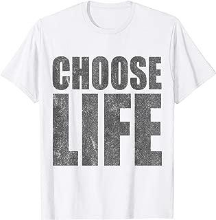 Choose Life Pro-Life Retro 80s T-Shirt