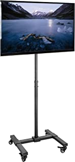 """VIVO VIVO Mobile TV Display Floor Stand Height Adjustable Mount w/Wheels for Flat Panel LED LCD Plasma Screen 13"""" to 42"""" (STAND-TV07W)"""