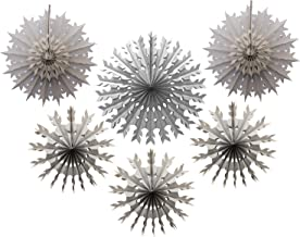 product image for 6-Piece Tissue Paper Snowflake Party Decoration Kit (Gray, 15-22 Inches)