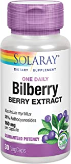 Solaray Bilberry Berry Extract 160 mg with Blueberry Extract   Healthy Vision & Circulation Support   30 VegCaps … B002S3SHFM