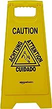 AmazonBasics 2-Sided Floor Safety Sign, Caution, Multilingual, 6-Pack