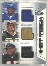 2002 Hot Prospects Football Shaun Alexander-Deuce McAllister-TJ Duckett Hat Trick 3x Hat Card # 47/150