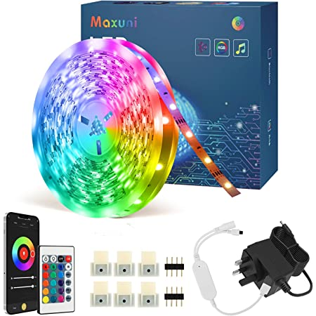 RGB LED Strip Lights with Remote 6M Mafiti LED Christmas Lights Full Kit with for Home Decoration