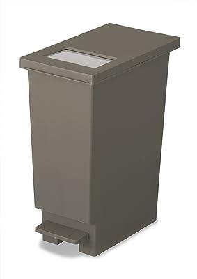 トンボ ゴミ箱 20L 日本製 フタ付き プッシュタイプ ペダル式 ブラウン ユニード 新輝合成 20S