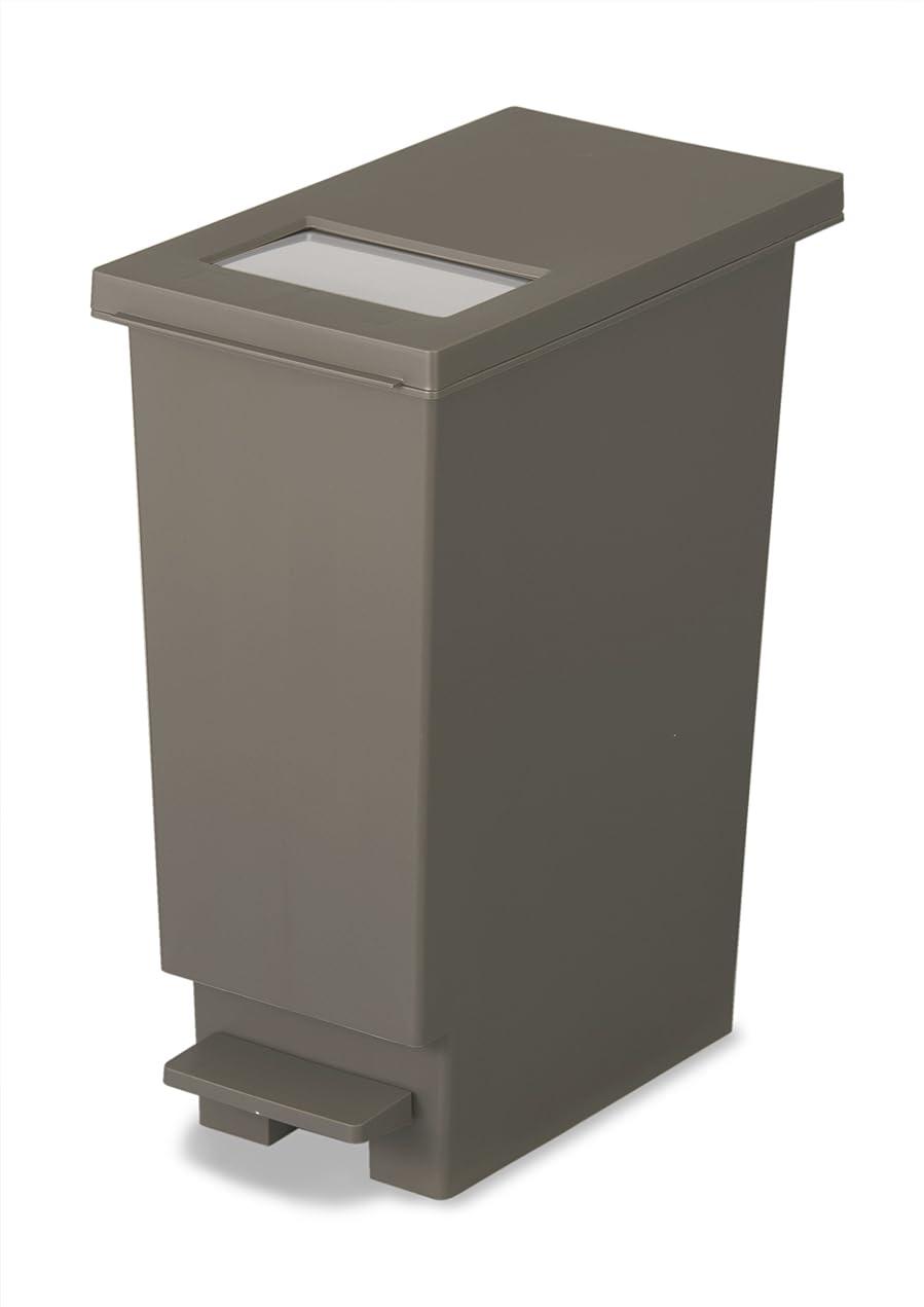 湿度鉱夫密接にトンボ ユニード ゴミ箱 プッシュ & ペダルペール 20L ブラウン
