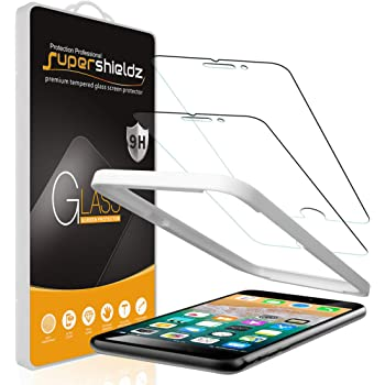 (2 Pack) Supershieldz for Apple iPhone 6S and iPhone 6 Tempered Glass Screen Protector with (Easy Installation Tray) 0.32mm, Anti Scratch, Bubble Free