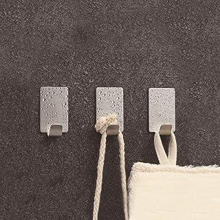 Sunfar-粘着 フック つけない 壁掛けフック 強力 はがせる ステンレス 壁フック 玄関ドア ハンガー トイレ小物 リース 額縁掛け 静電防水 小サイズ 8個入りセット (幅フック)