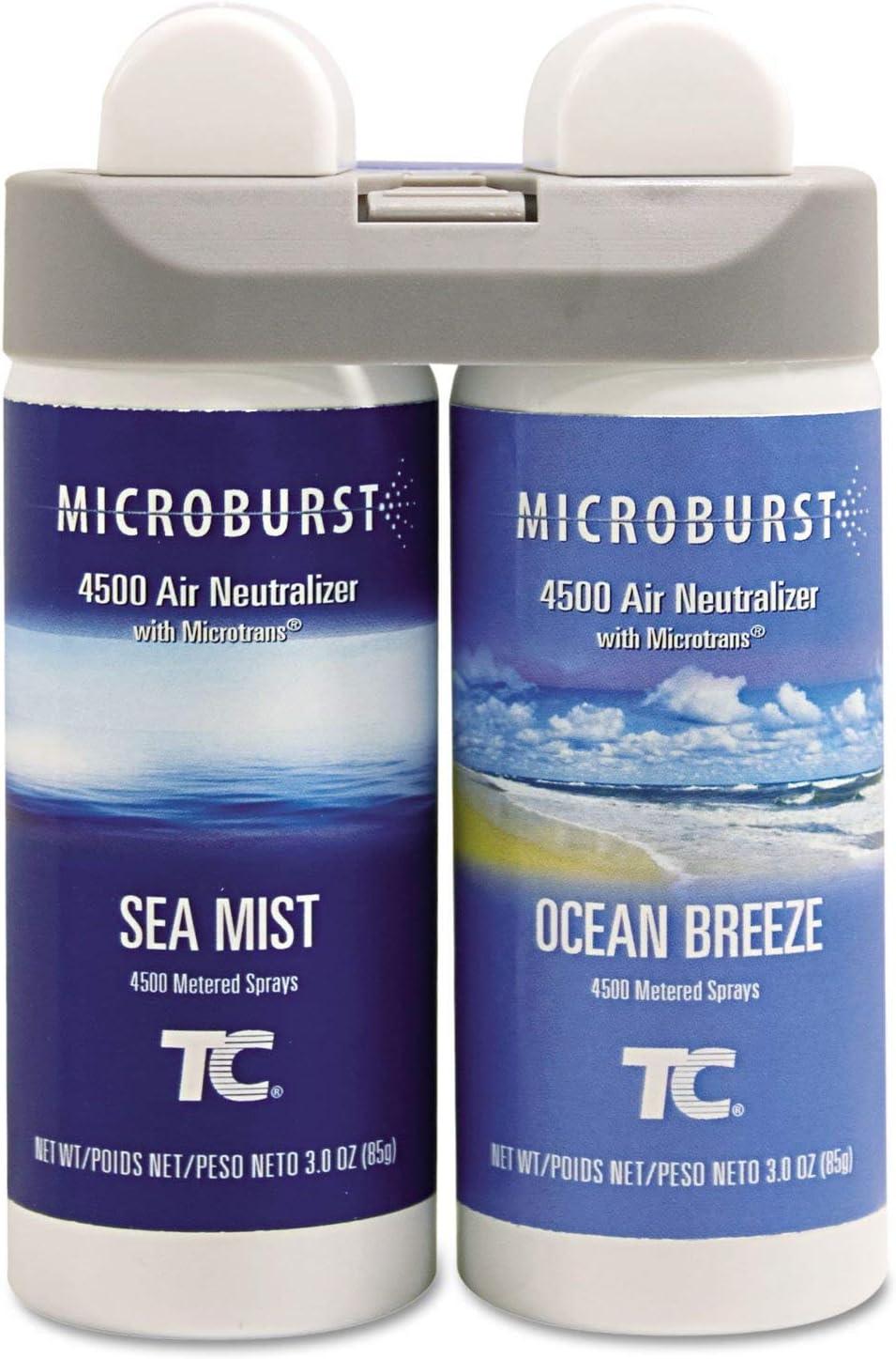 Rubbermaid Commercial Sale item 3485951 Microburst Charlotte Mall Sea Mist Refills Duet