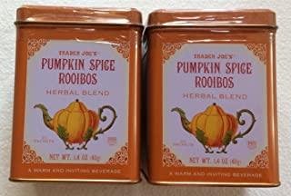 Trader Joe's Pumpkin Spice Rooibos Herbal Blend Beverage - 20 Sachets (Pack of 2 for a Total of 40 Sachets)