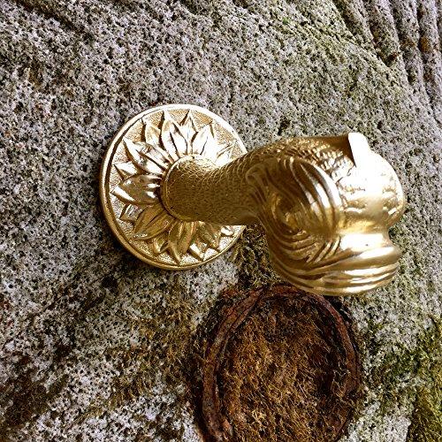 Antikas - Wasserspeier mit Fischmaul, Messing-Brunnenspeier, Brunnenauslauf für Wandbrunnen
