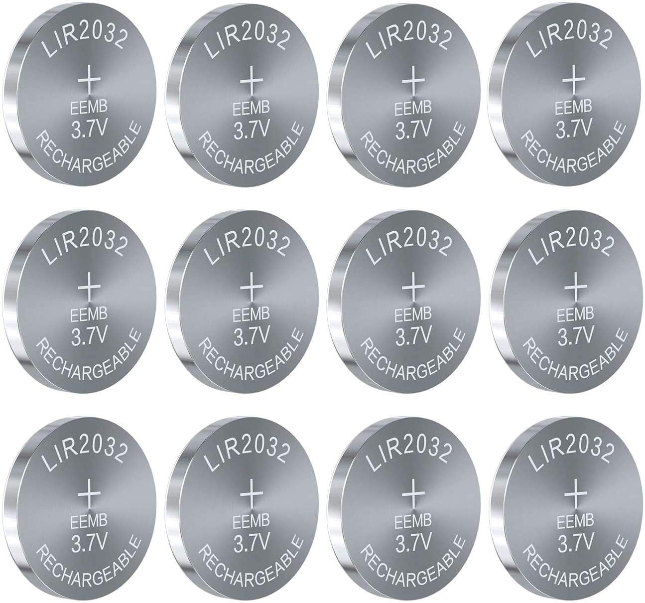 50PCS EEMB shop LIR2032 Rechargeable Battery Bu Coin Lithium-ion 3.7V Max 52% OFF