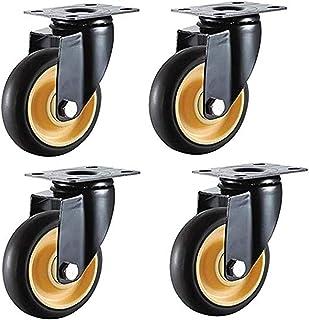4 x universele meubelwielen, draaibaar, industriële transportwielen, 75 mm, 100 mm, 70 kg, universele rem (kleur: B, maat:...