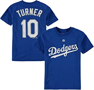 Outerstuff Justin Turner Los Angeles Dodger #10 Blue Youth Name and Number Jersey T-Shirt