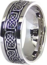 Fantasy Forge Jewelry Celtic Knot Spinner Ring Stainless Steel 8mm Wedding Band Sizes 6-15 Handfasting