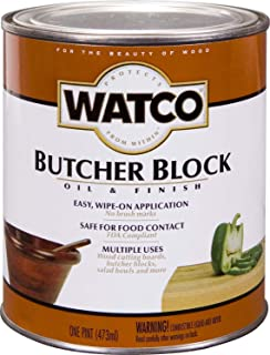 Watco 241758 Butcher Block Oil & Finish, Clear