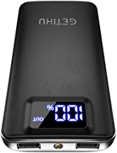 GETIHU Portable Charger, LED Display 10000mAh Power Bank, 4.8A 2 USB Ports High-Speed Battery...