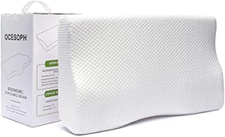 """Zofey Memory Foam Cervical Medical Pillow for Sleeping Orthopedic Pillows for Neck Back Pain (20""""X12""""X3"""") White Color (whi..."""