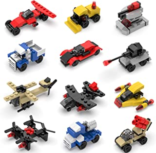 FUN LITTLE TOYS Mini Building Blocks Sets for Party Favors, Kids Prizes, Goodie Bags, 12 Boxes