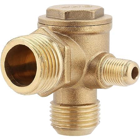 Messing Rückschlagventil Luftkompressor Außenrückschlag Ventilgewinde 90 Grad 20 19 10mm Gewerbe Industrie Wissenschaft