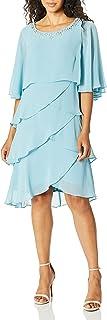S.L. Fashions Women's Capelet Tier Dress