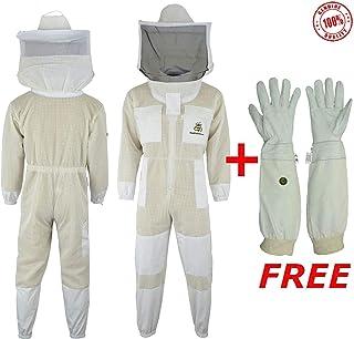 Ninbo Professional Imkerei Hut Imker Cowboy Hut Anti Moskito Biene Insekt Schleier Netz Hut Full Face Hals Wrap Protector