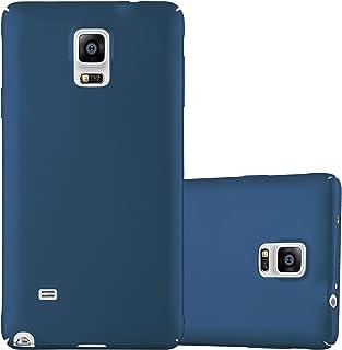 Cadorabo Funda para Samsung Galaxy Note 4 en Metal Azul - Cubierta Protección de Plástico Duro Super Delgada e Inflexible con Antichoque - Case Cover Carcasa Protectora Ligera