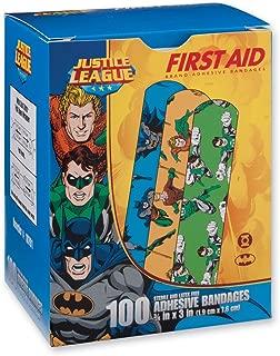 First Aid Batman, Aquaman, Green Lantern Bandages - First Aid Kit Supplies - 100 per Pack