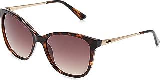 GUESS Unisex Adults' GU7502 52F 57 Sunglasses, Brown (Avana Scura/Marrone Grad)