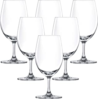 LUCARIS Bangkok Aqua Wine Glass, Pack of 6, Clear, 365 ml, LS01AQ1306