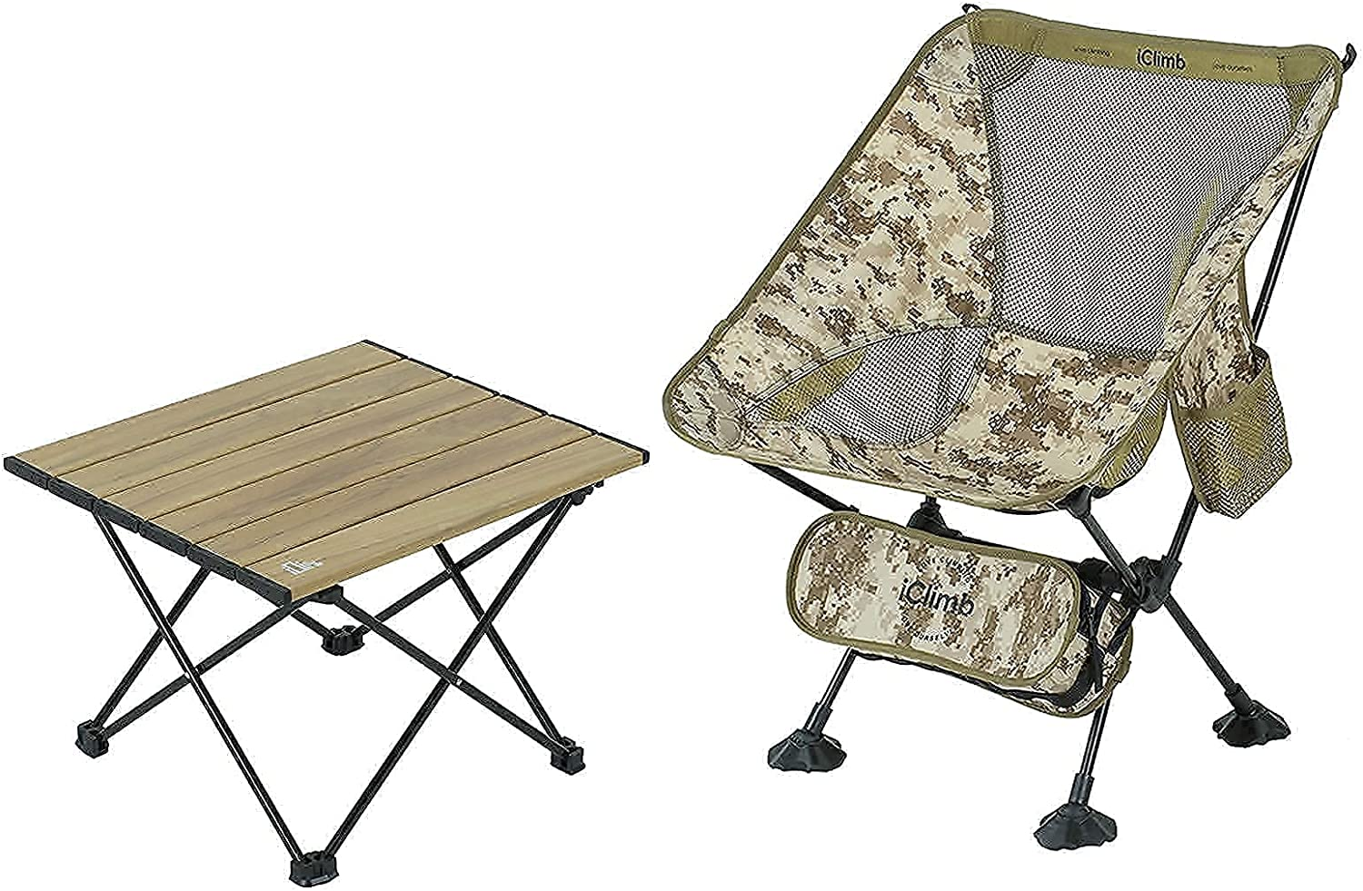 Popular overseas iClimb 1 Desert Minneapolis Mall Camouflage Folding Chair Feet Large F and with