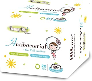 UUcare Young Girl Antibacterial Pantyliners 180mm, 20ct