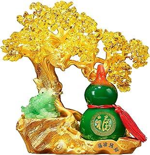 Natural Crystal Tumbled Stones Tree of Life Orname بونساي فورتشن شجرة المال لحظا سعيدا الثروة والازدهار منزلي مكتب ديكور ا...