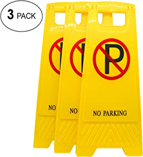 AMENITIES DEPOT (Pack of 3) 2-Sided Fold-Out Floor Safety Sign with No Parking …