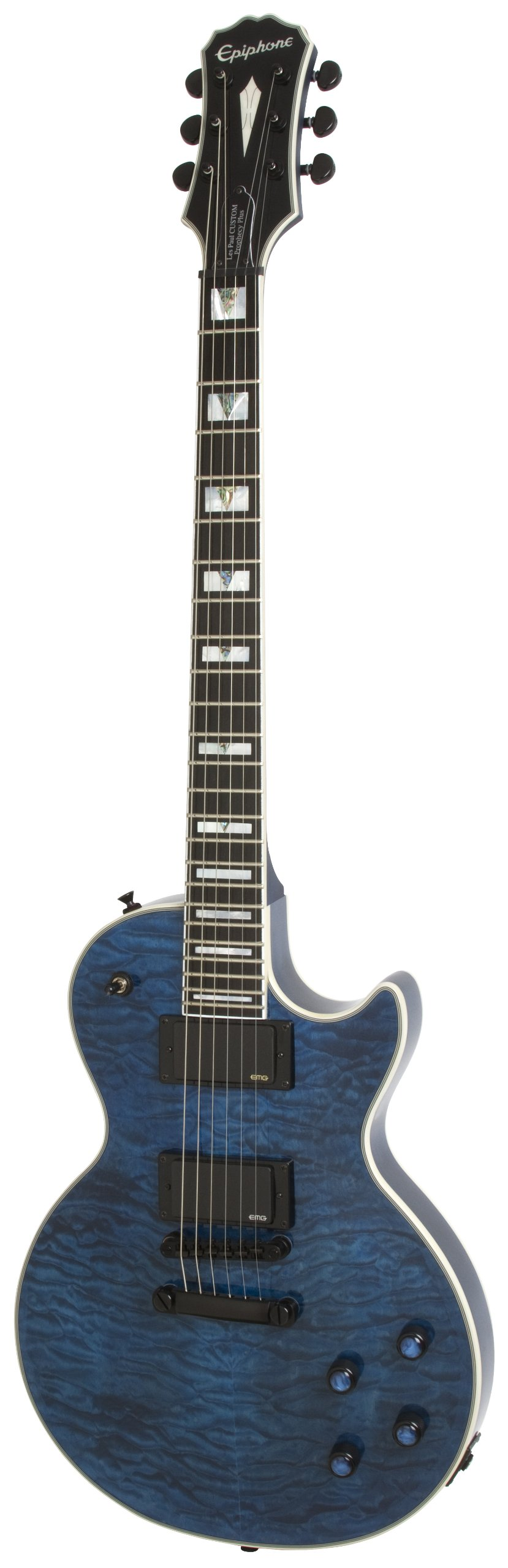 Epiphone Prophecy Les Paul Custom Plus EX Outfit - Guitarra eléctrica, color midnight sapphire: Amazon.es: Instrumentos musicales