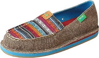 Women's Serape Driving Moccasin Shoes Moc Toe