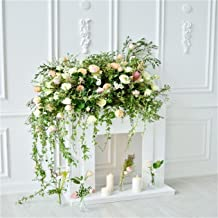 CSFOTO 8x8ft Background for Wedding Mother's Day Decoration Close Up On Retro White Wall Decorated with Flower Fireplace Photography Backdrop Elegant Photo Studio Props Vinyl Wallpaper