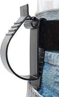 Hard Hat Belt Clip, Glove Utility Belt Clip, Hearing Protection Belt Clip, Hard Hat Grabber - Belt Hanger Clip (1pack, Black)
