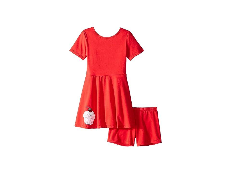 fiveloaves twofish Play Skater Cupcake Dress (Toddler/Little Kids) (Red) Girl