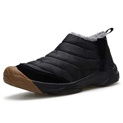 b4b06501d07 Mgreater Men s Snow Boots Fur Lined Booties Non-Slip Lightweight Winter  Shoes